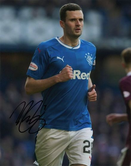 Jamie Murphy, Rangers, signed 10x8 inch photo.
